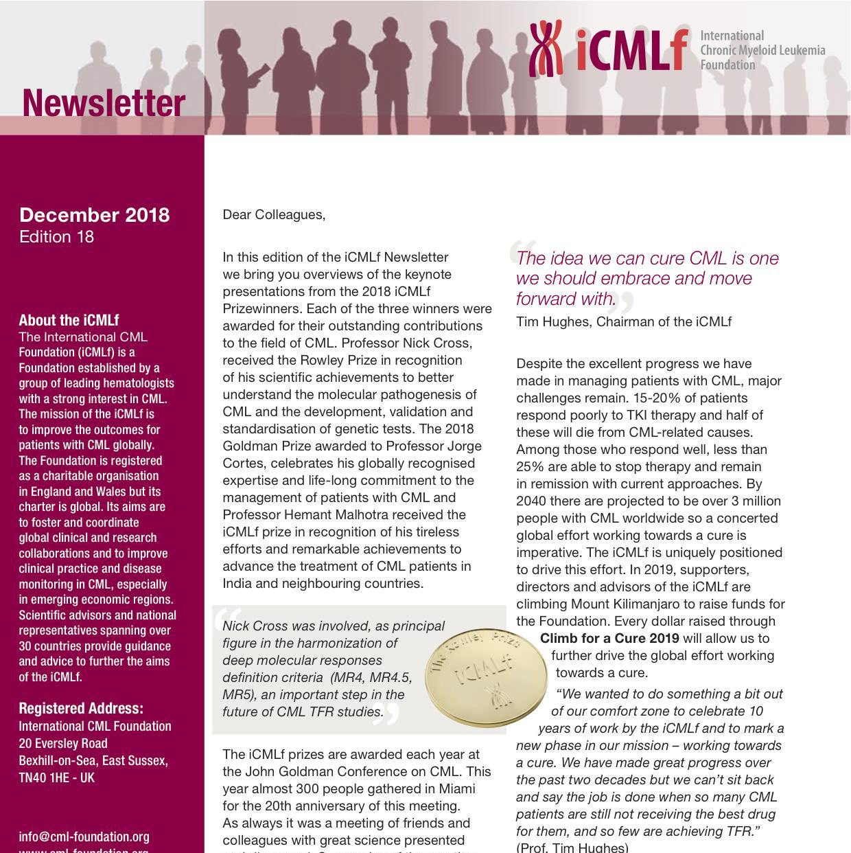 iCMLf Newsletter II 2018