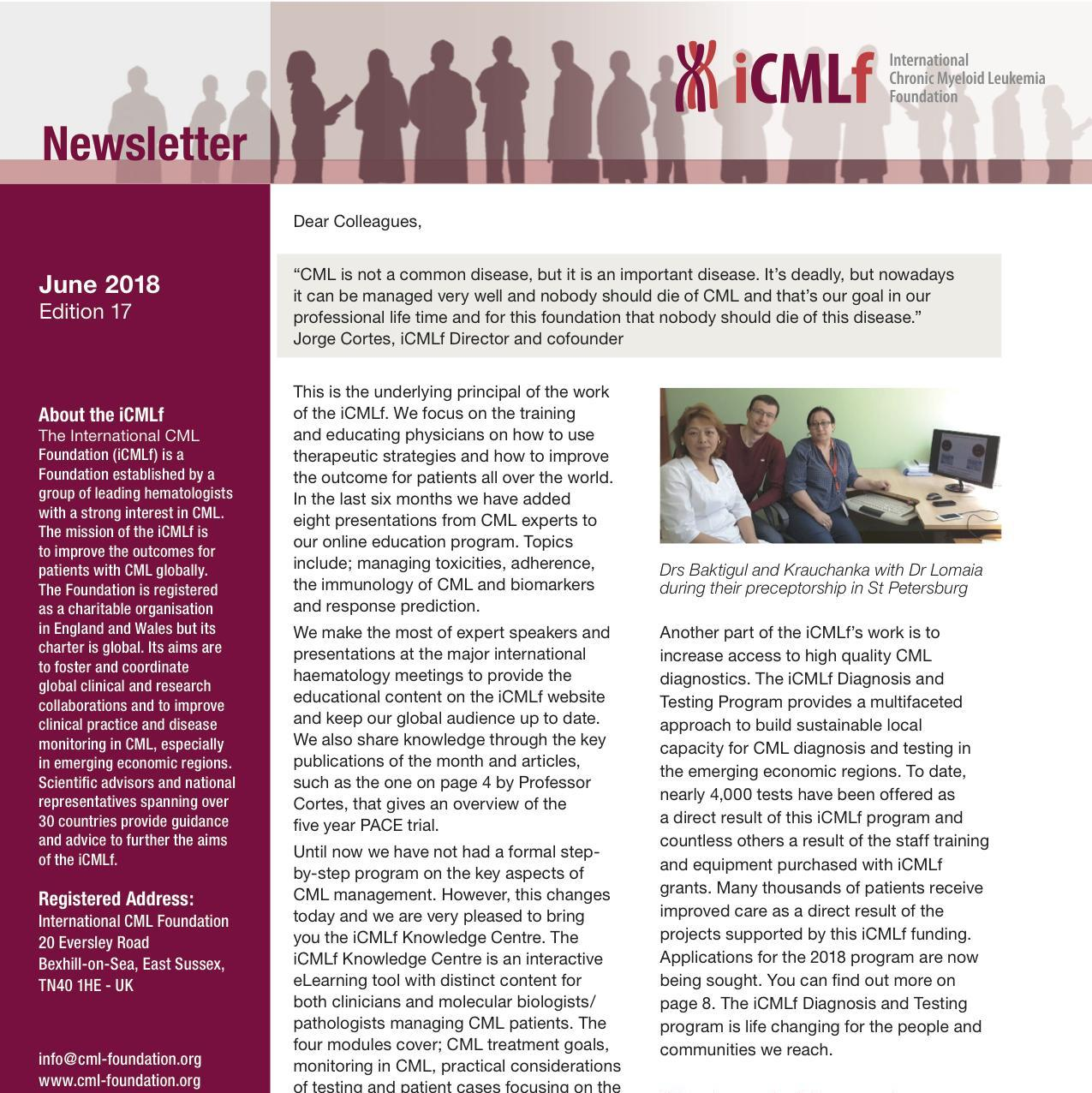 iCMLf Newsletter I 2018